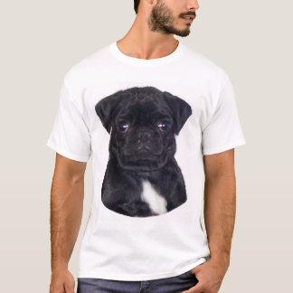Schwarzer Mops T-Shirt