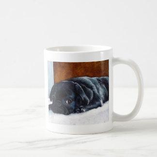 Schwarzer Mops-Welpe Kaffeetasse