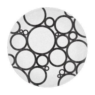 Schwarzer Muster-Entwurf der Blasen-|