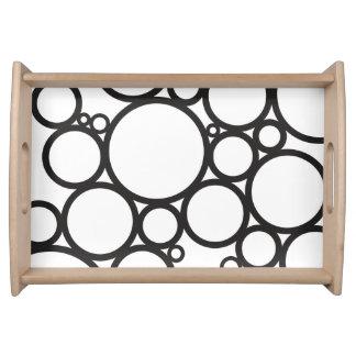 Schwarzer Muster-Entwurf der Blasen-| Tablett
