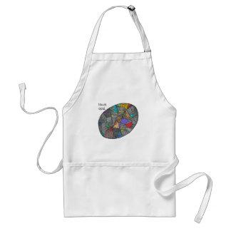 Schwarzer Opal Schürze
