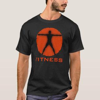 Schwarzer orange Körper-Verrücktheits-Fitness T-Shirt