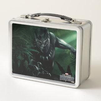 Schwarzer Panther | im Dschungel Metall Lunch Box