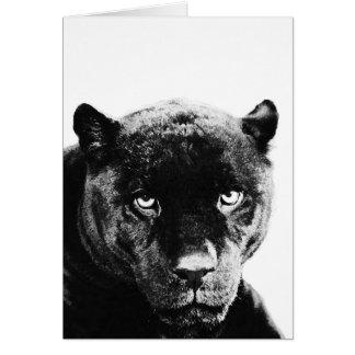 Schwarzer Panther Jaguar Karte