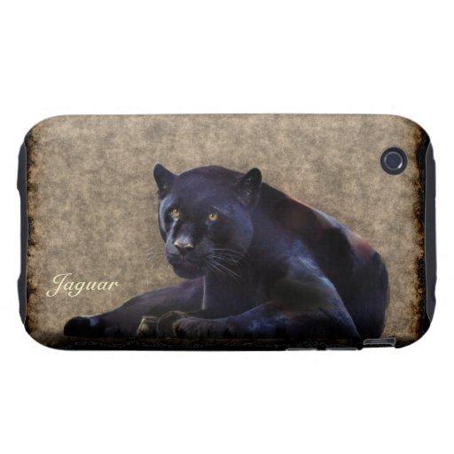 Schwarzer Panther-Jaguar Tier-Liebhaber iPhone Tough iPhone 3 Cover