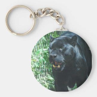 Schwarzer Panther-Katze Keychain Schlüsselanhänger