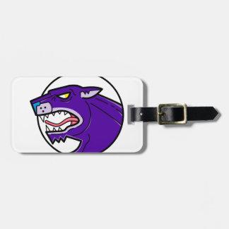 Schwarzer Panther-Knurrenmonolinie Kofferanhänger