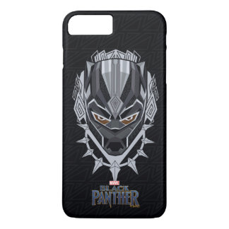 Schwarzer Panther-Kopf-Emblem des schwarzen iPhone 8 Plus/7 Plus Hülle