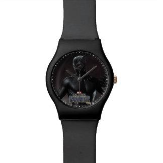 Schwarzer Panther | kratzt heraus Armbanduhr