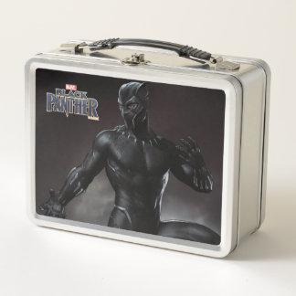 Schwarzer Panther | kratzt heraus Metall Lunch Box
