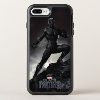 Schwarzer Panther   kratzt heraus OtterBox Symmetry iPhone 8 Plus/7 Plus Hülle