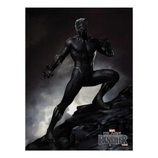 Schwarzer Panther | kratzt heraus Poster
