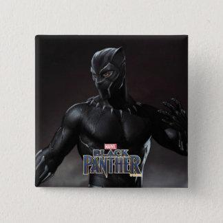 Schwarzer Panther | kratzt heraus Quadratischer Button 5,1 Cm