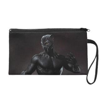 Schwarzer Panther | kratzt heraus Wristlet Handtasche