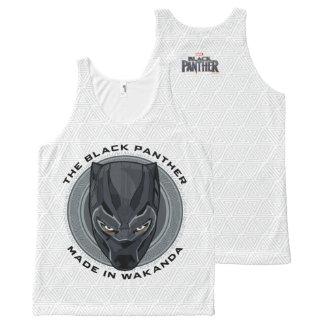 Schwarzer Panther   machte in Wakanda Komplett Bedrucktes Tanktop