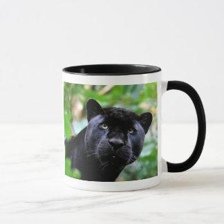 Schwarzer Panther-Makro Tasse