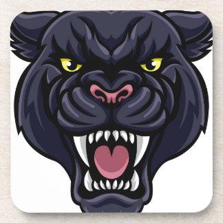 Schwarzer Panther-Maskottchen Getränkeuntersetzer