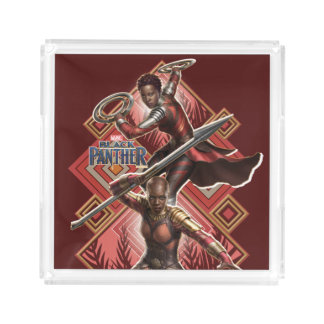 Schwarzer Panther | Nakia u. Okoye Wakandan Grafik Acryl Tablett