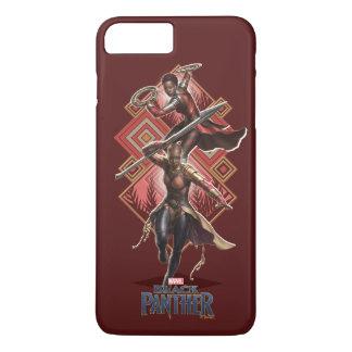 Schwarzer Panther   Nakia u. Okoye Wakandan Grafik iPhone 8 Plus/7 Plus Hülle