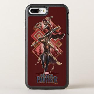 Schwarzer Panther   Nakia u. Okoye Wakandan Grafik OtterBox Symmetry iPhone 8 Plus/7 Plus Hülle