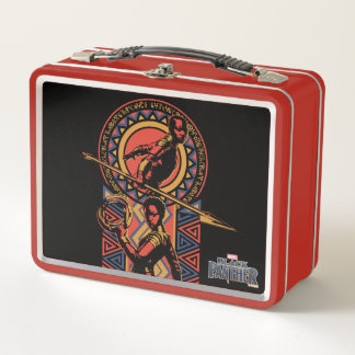 Schwarzer Panther | Okoye u. Nakia Wakandan Platte Metall Lunch Box
