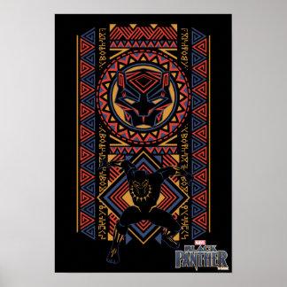Schwarzer Panther-Platte des schwarzen Panther-| Poster