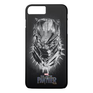 Schwarzer Panther   schwarze u. weiße Hauptskizze iPhone 8 Plus/7 Plus Hülle
