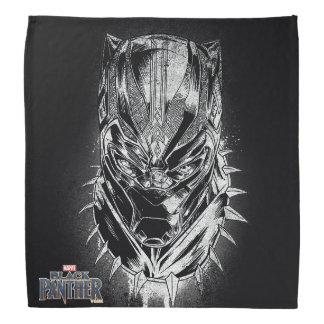 Schwarzer Panther | schwarze u. weiße Hauptskizze Kopftuch