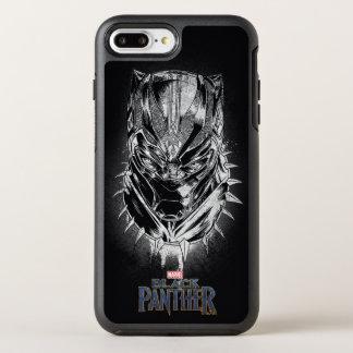 Schwarzer Panther   schwarze u. weiße Hauptskizze OtterBox Symmetry iPhone 8 Plus/7 Plus Hülle