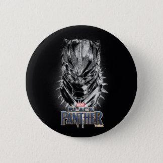 Schwarzer Panther | schwarze u. weiße Hauptskizze Runder Button 5,7 Cm