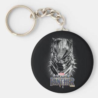 Schwarzer Panther | schwarze u. weiße Hauptskizze Schlüsselanhänger
