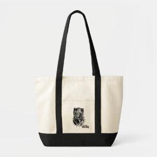 Schwarzer Panther | schwarze u. weiße Hauptskizze Tragetasche