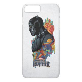 Schwarzer Panther-Stammes- Graffiti des schwarzen iPhone 8 Plus/7 Plus Hülle