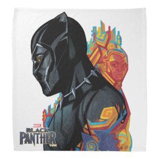 Schwarzer Panther-Stammes- Graffiti des schwarzen Kopftuch