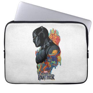 Schwarzer Panther-Stammes- Graffiti des schwarzen Laptop Sleeve