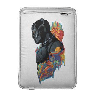 Schwarzer Panther-Stammes- Graffiti des schwarzen MacBook Sleeve