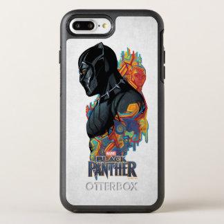 Schwarzer Panther-Stammes- Graffiti des schwarzen OtterBox Symmetry iPhone 8 Plus/7 Plus Hülle