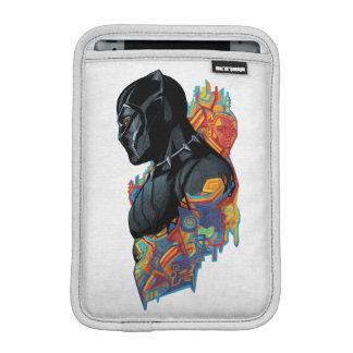 Schwarzer Panther-Stammes- Graffiti des schwarzen Sleeve Für iPad Mini