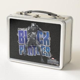 Schwarzer Panther | T'Challa - schwarzer Metall Brotdose