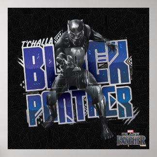 Schwarzer Panther | T'Challa - schwarzer Poster