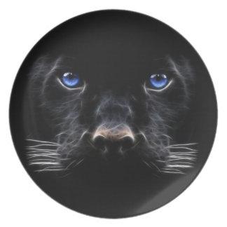 Schwarzer Panther Teller