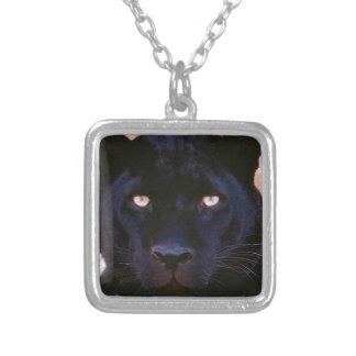 Schwarzer Panther Versilberte Kette