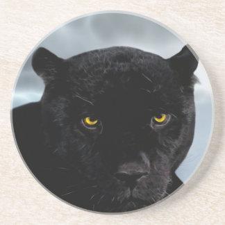 Schwarzer PantherPanthera Sandstein Untersetzer