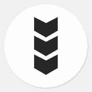 schwarzer Pfeil unten Runde Sticker