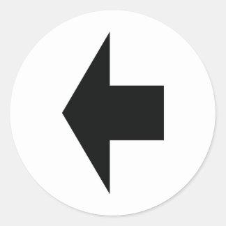 schwarzer Pfeil verlassen Runde Sticker