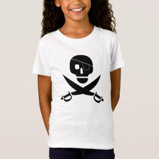 Schwarzer Piraten-Schädel mit Augen-Flecken-und T-Shirt