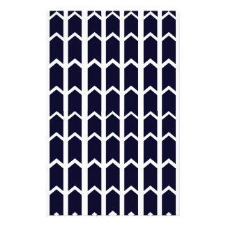 Schwarzer Platten-Zaun Briefpapier