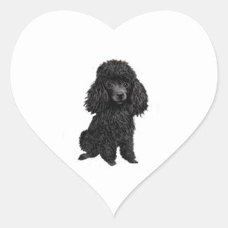 Schwarzer Pudel (#3) Herz-Aufkleber