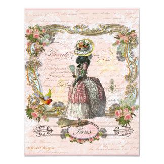 Schwarzer Pudel in Marie Antoinette Kostüm Ankündigung