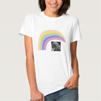 Schwarzer Pudel-Regenbogen-T - Shirt